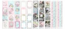 """Набор полос с картинками для декорирования """"Shabby garden""""."""
