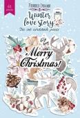 """Набор высечек, коллекция """"Winter love story"""", 61шт"""