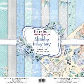 """Набор скрапбумаги """"Shabby baby boy redesign"""" 20x20см"""