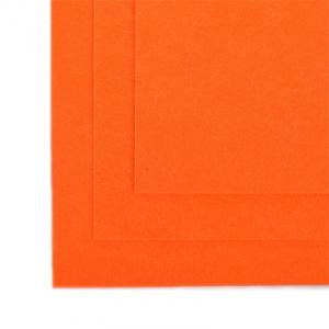 Фетр листовой полужесткий IDEAL 1мм 20х30см  цв. оранжевый 1шт