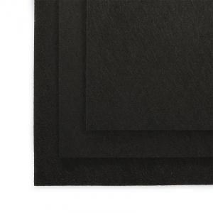 Фетр листовой полужесткий IDEAL 1мм 20х30см  цв. черный 1шт