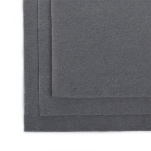 Фетр листовой полужесткий IDEAL 1мм 20х30см  цв. Серый 1шт