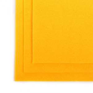Фетр листовой полужесткий IDEAL 1мм 20х30см  цв. желтый 1шт