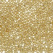 Бисер Япония  11/0 круглый 2 2.2 мм 5 х 5 г 0022 св.золотистый