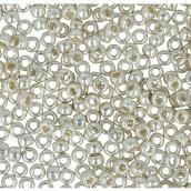 Бисер Япония  11/0 круглый 4 2.2 мм 5 х 5 г 0558 серебряный