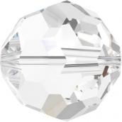 """Бусины стеклянные """"Сваровски"""" 5000 Crystal 4 мм 1 шт в пакете кристалл белый"""