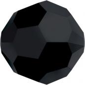 """Бусины стеклянные """"Сваровски"""" 5000 цветн. 4 мм 1 шт  кристалл чёрный"""