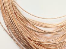 Канитель жесткая золото розовое 1,2мм 10г