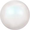 "Бусины стеклянные ""Swarovski"" 5810 4 мм 5 шт под жемчуг кристалл белый перламутр (PEWHP 969)"