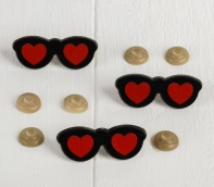 Очки винтовые с загушками, набор 6 шт, размер 1 шт 4,7*1,9 см