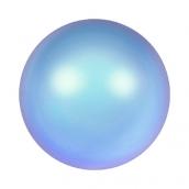 Бусины стеклянные сваровски 5810 радужные 6 мм 5шт под жемчуг св.сине-розовый (irid. lt. blue 948)