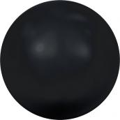 """Бусины стеклянные """"Сваровски"""" 5810 5мм 5шт под жемчуг  кристалл  черный (mystic black 335)"""