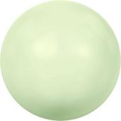 """Бусины стеклянные """"Сваровски"""" 5810 5мм 5шт под жемчуг кристалл  нежно-салатовый (green 967)"""