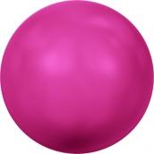 """Бусины стеклянные """"Сваровски"""" 5810 4мм 5 шт под жемчуг  кристалл  яр.розовый (neon pink 732)"""