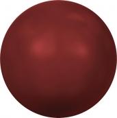 """Бусины стеклянные """"Сваровски"""" 5810 6мм 5шт под жемчуг кристалл  красный (red coral 718)"""