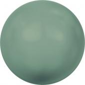"""Бусины стеклянные """"Сваровски"""" 5810 5мм 5шт под жемчуг  кристалл  св.зеленый (jade 715)"""