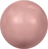 """Бусины стеклянные """"Сваровски"""" 5810 5мм 5шт под жемчуг кристалл  св.розовый (pink coral 716)"""