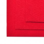 Фетр листовой жесткий IDEAL 1мм 20х30см  цв.603 красный