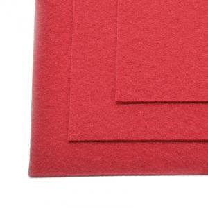 Фетр листовой жесткий IDEAL 1мм 20х30см цв.607 т.красный
