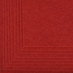 Фетр листовой жесткий IDEAL 1мм 20х30см  цв.617 бордовый