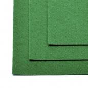Фетр листовой жесткий IDEAL 1мм 20х30см  цв.672 зеленый