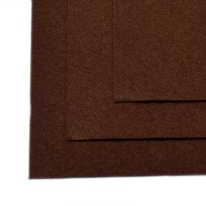 Фетр листовой жесткий IDEAL 1мм 20х30см  цв.687 коричневый