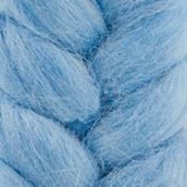 """Шерсть для валяния КАМТ """"Лента для валяния"""" (шерсть п/т 100%) 1х50г/2,1м цв.015 голубой"""