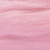 """Шерсть для валяния КАМТ """"Лента для валяния"""" (шерсть п/т 100%) 1х50г/2,1м цв.055 св.розовый"""
