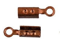 Зажим для узла 4 х 2 х 2 мм 2шт №05 под медь
