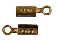Зажим для узла 4 х 2 х 2 мм 2шт №04 под бронзу