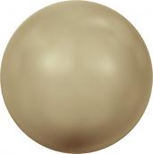 """Бусина стеклянная   """"Сваровски""""  5810   6 мм  5 шт  под жемчуг  кристалл  т.золотой (vintage gold 651)"""