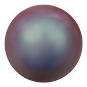 """Бусина стеклян  """"Сваровски"""" 5810 радуж 6 мм  5 шт под жемчуг  кристалл  синий-красный (irid. red 947)"""