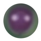 """Бусина стеклян """"Сваровски""""  5810 радуж 6 мм  5 шт  под жемчуг  кристалл  фиолетово-зеленый (purple pearl 943)"""