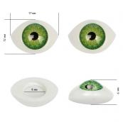 Глаза круглые выпуклые цветные 17мм цв.зеленый 1шт