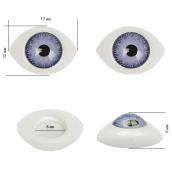 Глаза круглые выпуклые цветные 17мм цв.фиолетовый 1шт