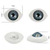 Глаза круглые выпуклые цветные 19мм цв.серый 1шт