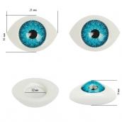 Глаза круглые выпуклые цветные  21мм цв.голубой 1шт