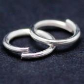 Кольца соединительные одинарные цв. серебро 4х0,8мм уп.10 г