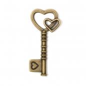 """Кулон """"Ключ"""" цв.бронза 42x19мм 1шт"""