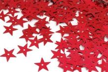 Пайетки россыпью Ideal арт. 13мм цв.003 звезда красный уп.25г