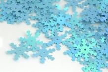 Пайетки россыпью Ideal арт. 18мм цв.017 снежинка голубой уп.25г