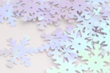Пайетки россыпью Ideal  25мм цв.099 снежинка цв.белый уп.25г