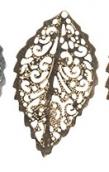 """""""Zlatka"""" Филигранные элементы   FDP-009   3.1 см  лист   4 шт под античную бронзу"""