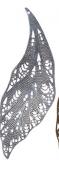 """""""Zlatka"""" Филигранные элементы   FDP-027   7.3 см  лист   2 шт под античное серебро"""
