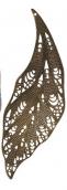 """""""Zlatka"""" Филигранные элементы   FDP-027 7.3 см  лист   2 шт под античную бронзу"""