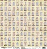 """Лист """"Окна напротив"""" Городские истории 190 гр 30,5х30,5 см"""