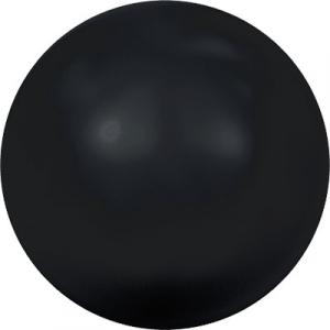 """Бусина стеклян """"Сваровски"""" 5810 6 мм 5 шт под жемчуг  кристалл черный (mystic black 335)"""