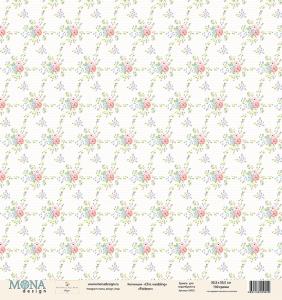 """Лист """"Pattern"""" Chic wedding 190 гр 30,5х30,5 см"""