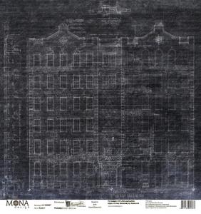 """Лист """"Графит"""" Мастерская в конце улицы  190 гр 30,5х30,5 см"""