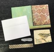 Набор бумажных аксеcсуаров  для создания  открыток